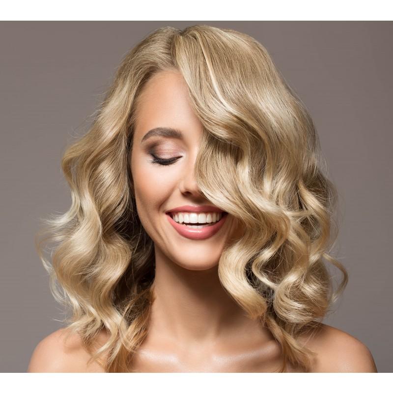 Farve skulderlangt hår (Helfarve)